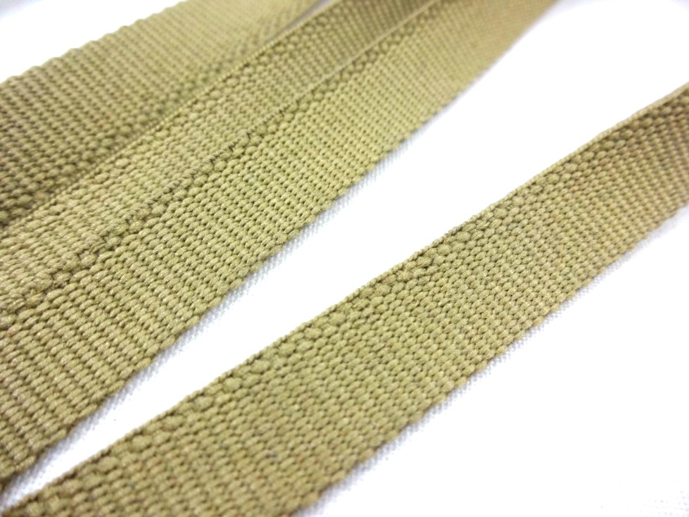B105 Polyesterband 11 mm mörkbeige