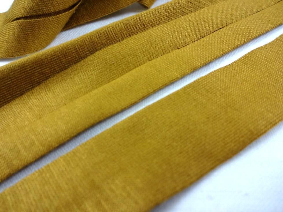 B1200 Jersey Bias Binding Tape 20 mm mustard yellow