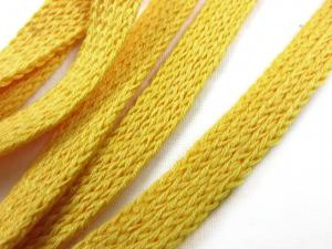 B121 Knitted Ribbon 10 mm yellow