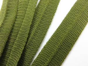 B123 Stickat kantband 15 mm olivgrön