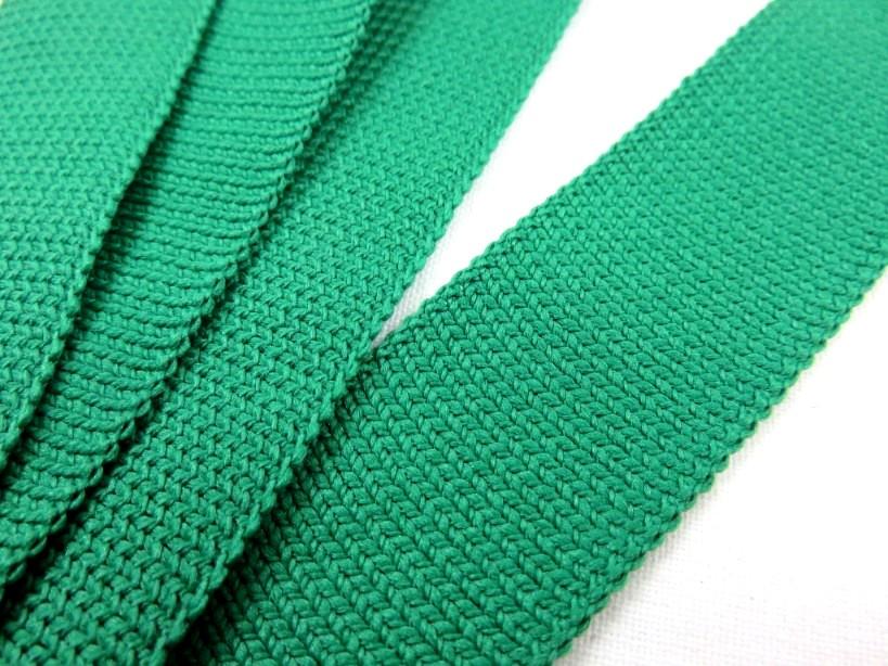 B129 Stickat band 25 mm grön