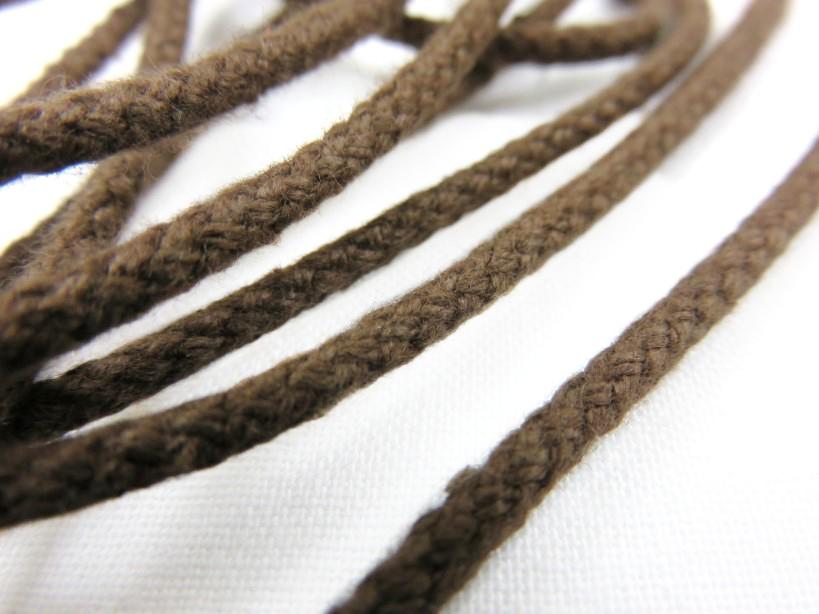 B158 Cotton Cord 3 mm dark brown