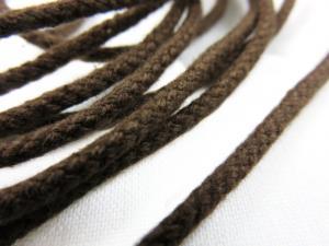 B158 Snodd 3 mm mörkbrun