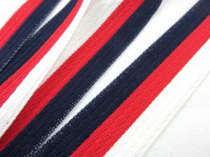 B162 Bomullsband 28 mm blå/vit/röd (2:a sort)