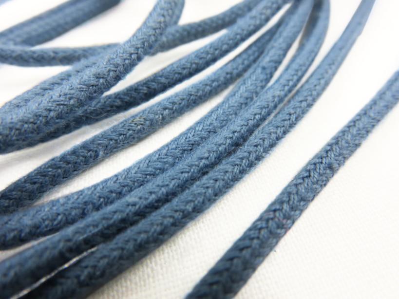 B168 Cotton Cord 3 mm blue