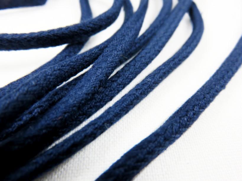 B168 Cotton Cord 4 mm dark blue