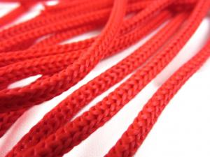 B177 Polyestersnodd 5 mm röd
