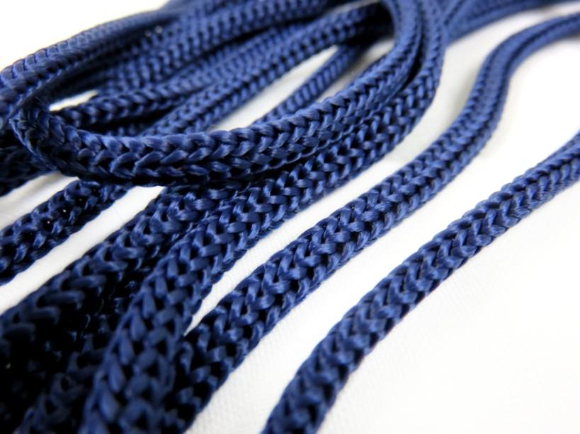 B177 Polyester Cord 5 mm dark blue