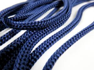B177 Polyestersnodd 5 mm mörkblå