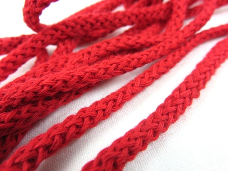 B180 Cotton Cord 5 mm red