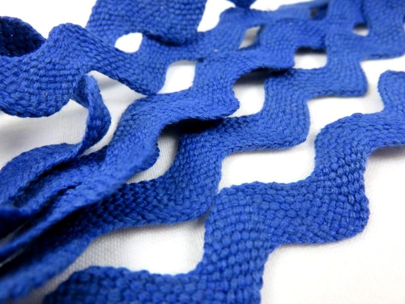B204 Zig-zagband 20 mm blå