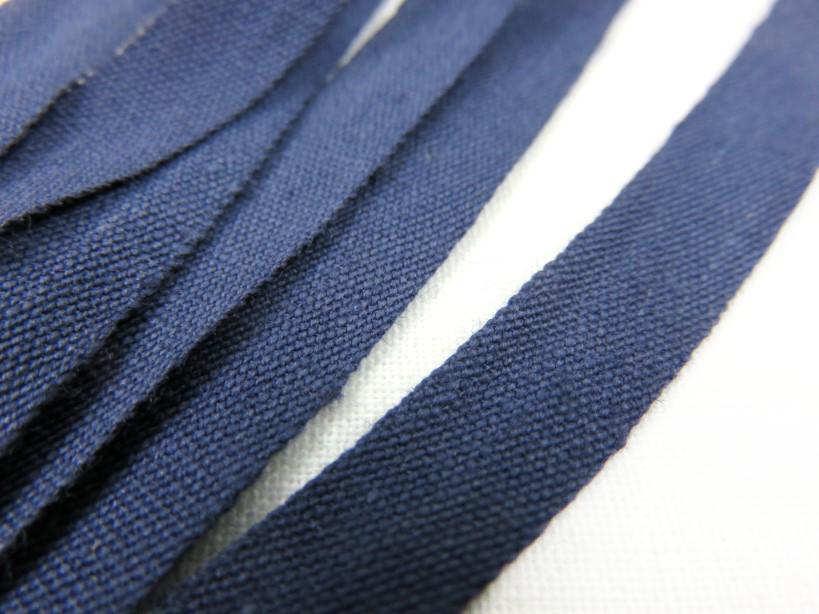 B222 Bomullsband 9 mm mörkblå (2:a sort)
