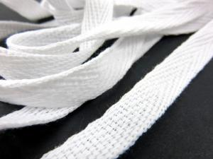 B246 Herringbone Cotton Tape 10 mm white
