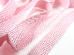B246 Bomullsband 10 mm ljusrosa