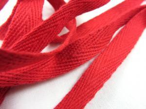 B246 Herringbone Cotton Tape 10 mm red