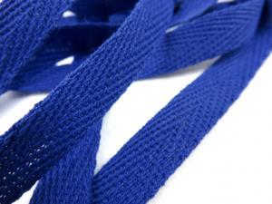 B246 Herringbone Cotton Tape 10 mm royal blue