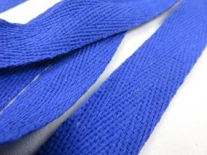B246 Bomullsband 20 mm royalblå