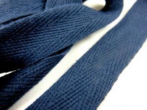B246 Herringbone Cotton Tape 20 mm marine blue