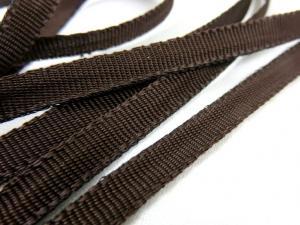 B262 Polyesterband 6 mm mörkbrun