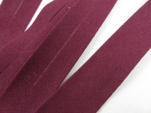 B299 Cotton Bias Binding Tape 20 mm dark wine red (20 m)