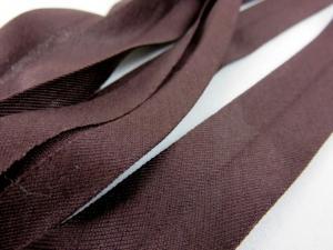 B335 Jersey Bias Binding Tape 20 mm dark brown