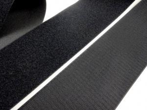B336 Kardborrband 100 mm svart (komplett)