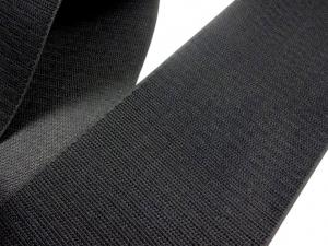 B336 Kardborrband 100 mm svart (hård)
