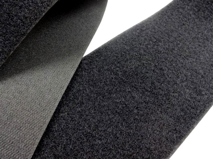 B336 Kardborrband 100 mm svart (mjuk)