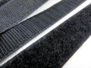 B336 Kardborrband 20 mm svart (komplett)