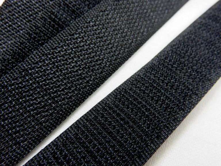 B336 Kardborrband 20 mm svart (hård)