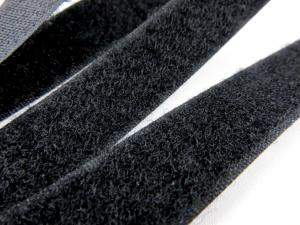 B336 Kardborrband 20 mm svart (mjuk)