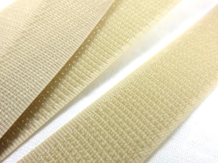 B336 Kardborrband 20 mm beige (hård)