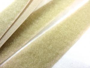 B336 Kardborrband 20 mm beige (mjuk)