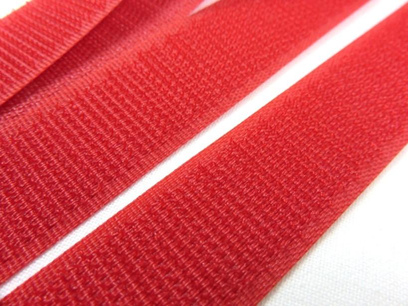 B336 Kardborrband 20 mm röd (hård)