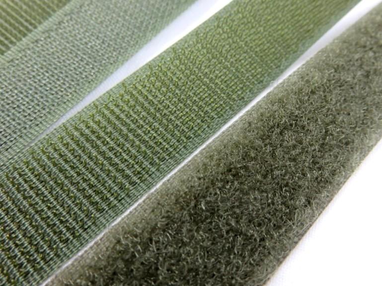 B336 Kardborrband 20 mm olivgrön (komplett)