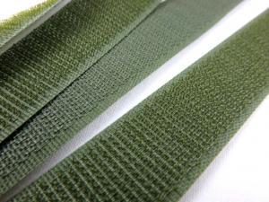 B336 Kardborrband 20 mm olivgrön (hård)