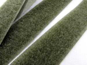 B336 Kardborrband 20 mm olivgrön (mjuk)