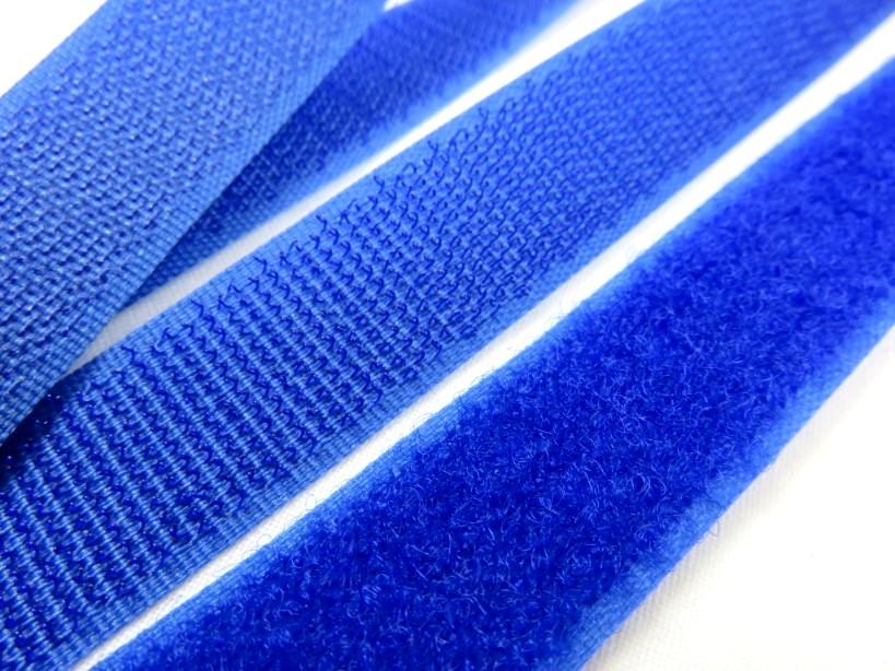 B336 Kardborrband 20 mm royalblå (komplett)