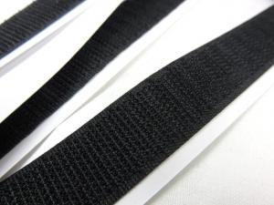 B337 Kardborrband självhäftande 20 mm svart (hård)