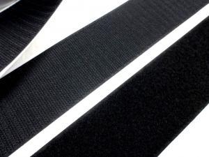 B337 Kardborrband självhäftande 50 mm svart (komplett)
