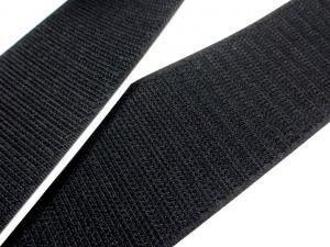 B337 Kardborrband självhäftande 50 mm svart (hård)