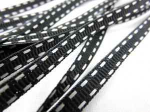 B341 Decorative Ribbon Lines 5 mm black/white