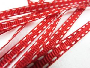 B341 Decorative Ribbon Lines 5 mm red/white