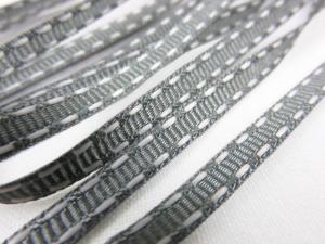 B341 Decorative Ribbon Lines 5 mm grey/white