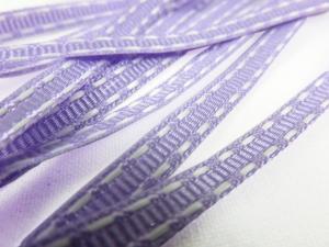 B341 Decorative Ribbon Lines 5 mm light purple/white