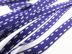 B341 Decorative Ribbon Lines 5 mm dark purple/white