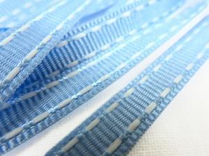 B342 Decorative Ribbon Lines 9 mm light blue/white