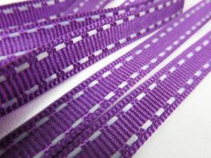 B342 Decorative Ribbon Lines 9 mm medium purple/white