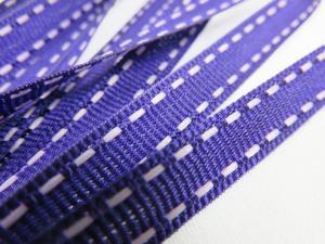 B342 Decorative Ribbon Lines 9 mm dark purple/white