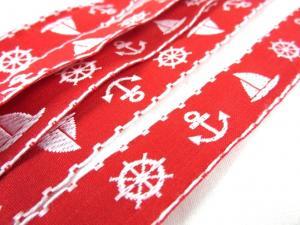 B354 Band 20 mm båt röd/vit